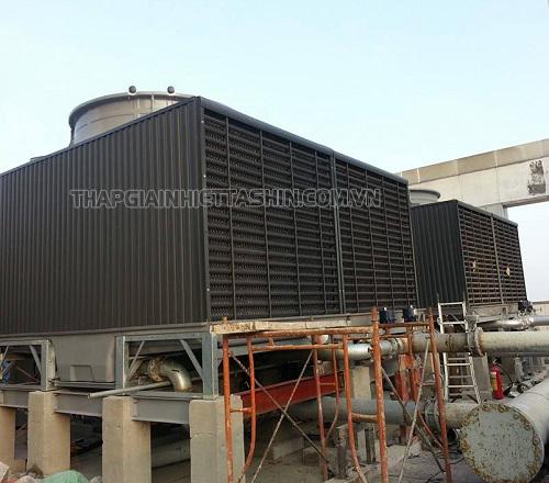 Tháp giải nhiệt vuông được thiết kế theo một hệ thống khép kín hoàn chỉnh