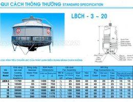 Những thông tin có trong catalogue tháp giải nhiệt Liang Chi