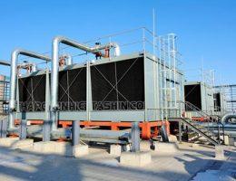 Tháp giải nhiệt nước cooling tower sử dụng những vật liệu gì?